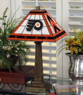 Philadelphia Flyers Stained Glass Mission Table Lamp