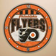Philadelphia Flyers Stained Glass Wall Clock