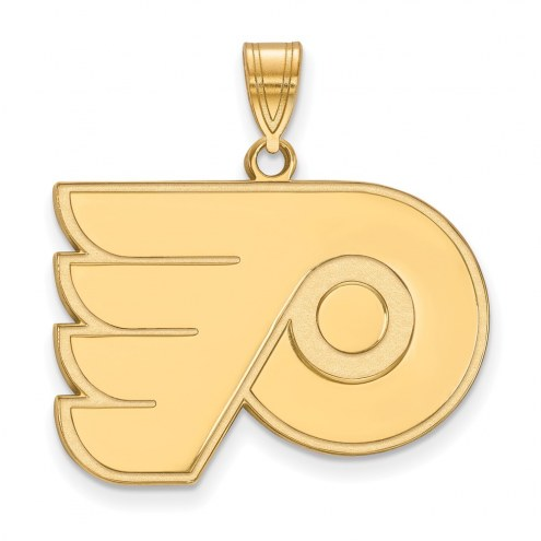Philadelphia Flyers Sterling Silver Gold Plated Large Pendant