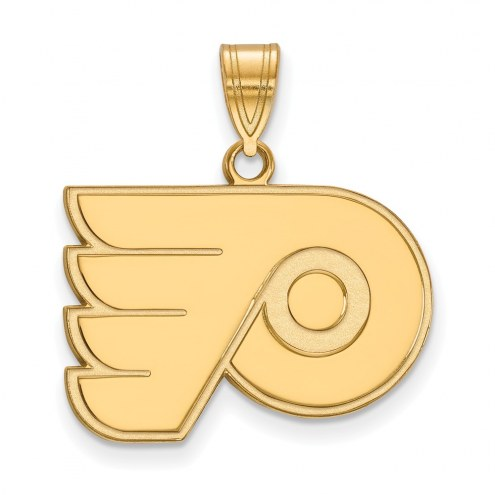 Philadelphia Flyers Sterling Silver Gold Plated Medium Pendant
