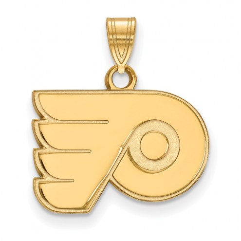 Philadelphia Flyers Sterling Silver Gold Plated Small Pendant