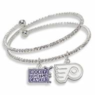 Philadelphia Flyers Support HFC Crystal Bracelet