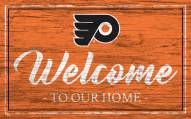 Philadelphia Flyers Team Color Welcome Sign