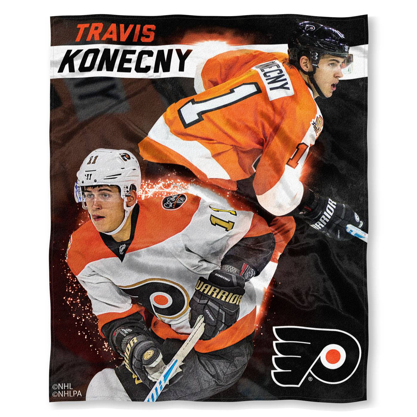 another chance 403af 89d95 Philadelphia Flyers Travis Konecny Silk Touch Blanket