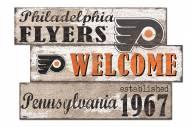 Philadelphia Flyers Welcome 3 Plank Sign
