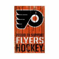 Philadelphia Flyers Proud to Support Wood Sign