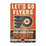 Philadelphia Flyers Slogan Wood Sign