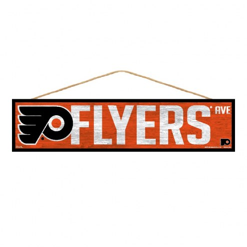 Philadelphia Flyers Wood Avenue Sign