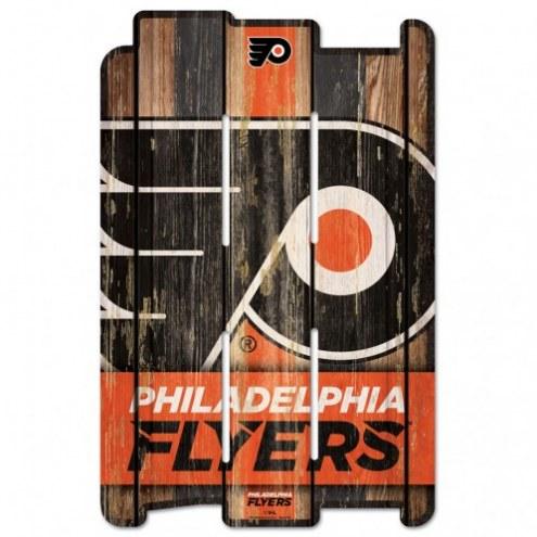 Philadelphia Flyers Wood Fence Sign