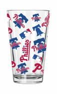 Philadelphia Phillies 16 oz. All Over Print Pint Glass