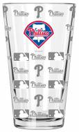 Philadelphia Phillies 16 oz. Sandblasted Pint Glass