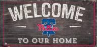 "Philadelphia Phillies 6"" x 12"" Welcome Sign"