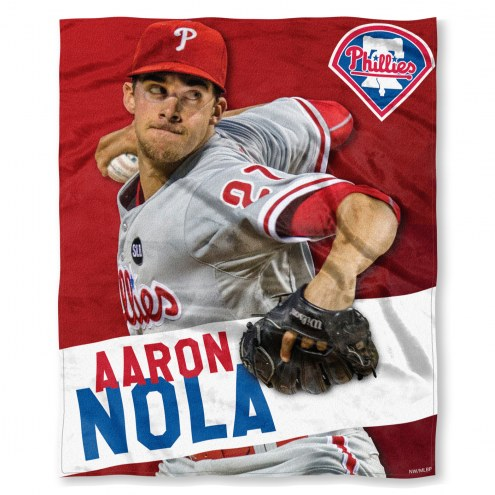 Philadelphia Phillies Aaron Nola Silk Touch Blanket
