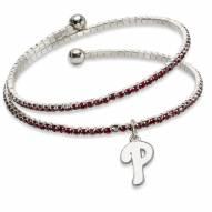 Philadelphia Phillies Amped Logo Crystal Bracelet