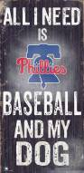Philadelphia Phillies Baseball & My Dog Sign