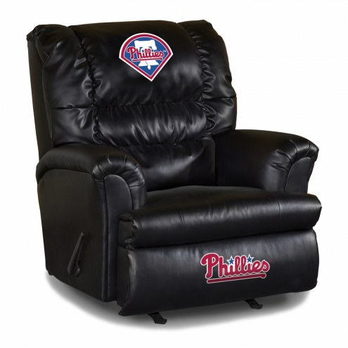 Philadelphia Phillies Big Daddy Leather Recliner