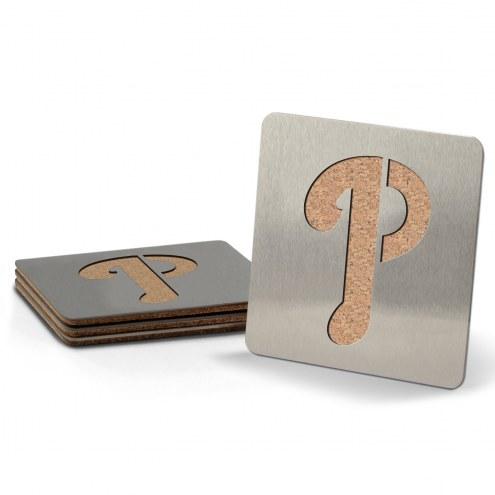 Philadelphia Phillies Boasters Stainless Steel Coasters - Set of 4