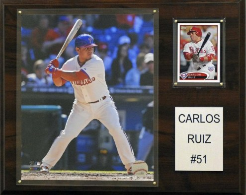 "Philadelphia Phillies Carlos Ruiz 12"" x 15"" Player Plaque"