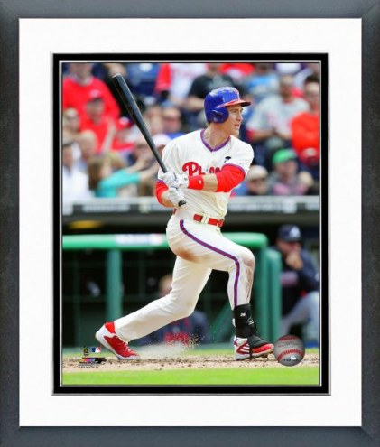 Philadelphia Phillies Chase Utley Action Framed Photo