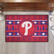Philadelphia Phillies Christmas Sweater Starter Rug