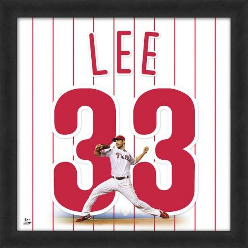 Philadelphia Phillies Cliff Lee Uniframe Framed Jersey Photo