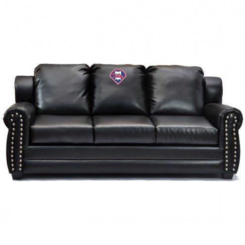 Philadelphia Phillies Coach Leather Sofa