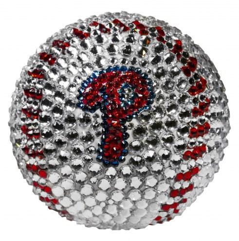Philadelphia Phillies Swarovski Crystal Baseball