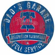 Philadelphia Phillies Dad's Garage Sign