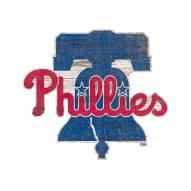 Philadelphia Phillies Distressed Logo Cutout Sign