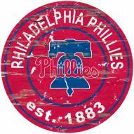 Philadelphia Phillies Distressed Round Sign