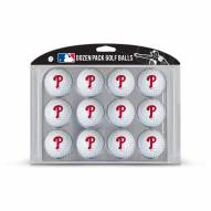 Philadelphia Phillies Dozen Golf Balls