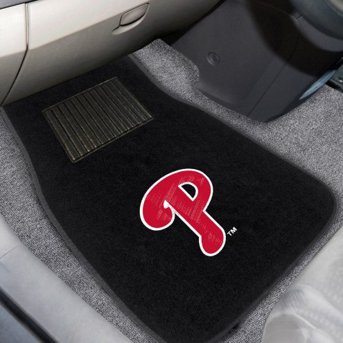 Philadelphia Phillies Embroidered Car Mats