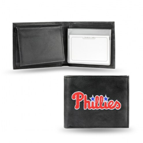 Philadelphia Phillies Embroidered Leather Billfold Wallet