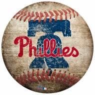 Philadelphia Phillies Baseball Shaped Sign