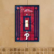 Philadelphia Phillies Glass Single Light Switch Plate Cover