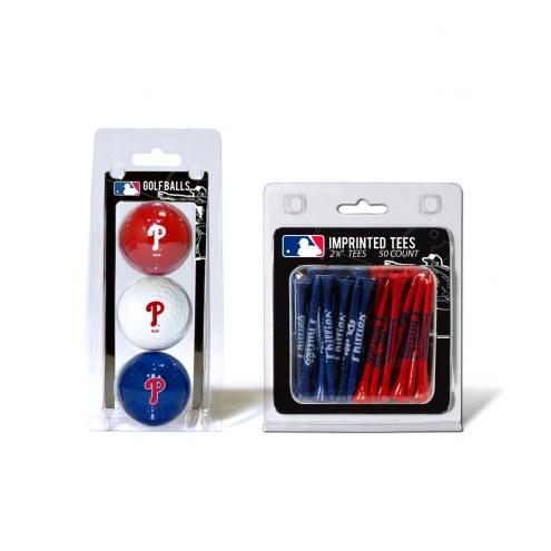 Philadelphia Phillies Golf Ball & Tee Pack