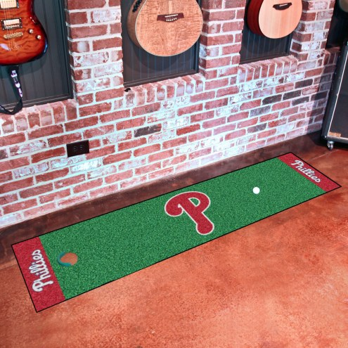 Philadelphia Phillies Golf Putting Green Mat