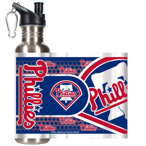 Philadelphia Phillies Hi-Def Stainless Steel Water Bottle