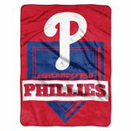 Philadelphia Phillies Home Plate Plush Raschel Blanket