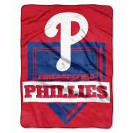 Philadelphia Phillies Home Plate Plush Raschel Blanket