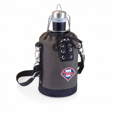 Philadelphia Phillies Insulated Growler Tote with 64 oz. Stainless Steel Growler