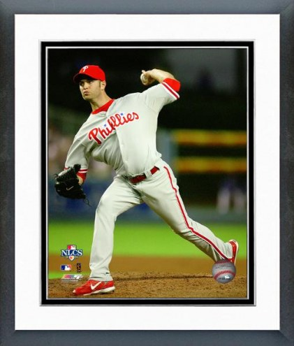 Philadelphia Phillies J.A. Happ NL Championship Series Framed Photo