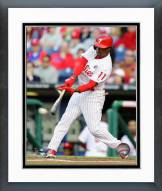 Philadelphia Phillies Jimmy Rollins Action Framed Photo