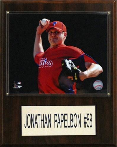 "Philadelphia Phillies Jonathan Papelbon 12"" x 15"" Player Plaque"