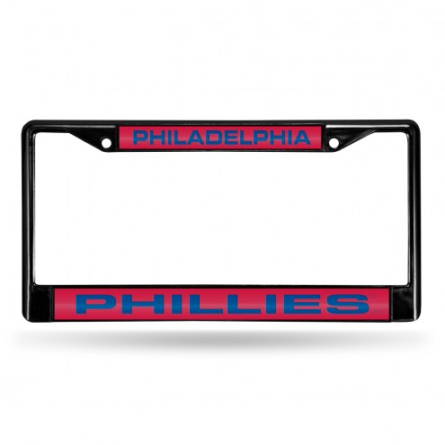 Philadelphia Phillies Laser Black License Plate Frame