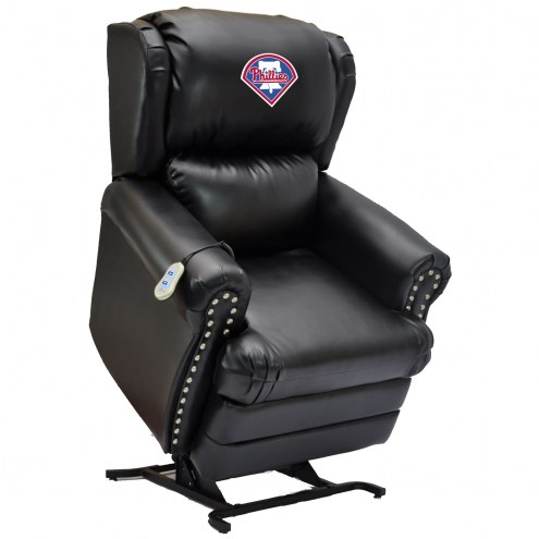 Philadelphia Phillies Leather Coach Lift Recliner