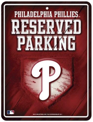 Philadelphia Phillies Metal Parking Sign