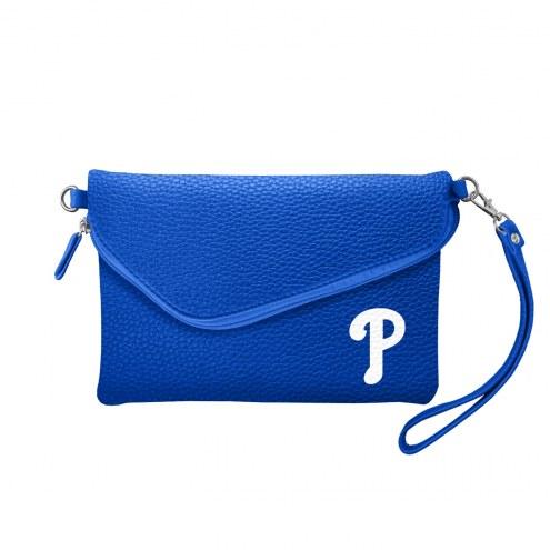 Philadelphia Phillies Pebble Fold Over Purse