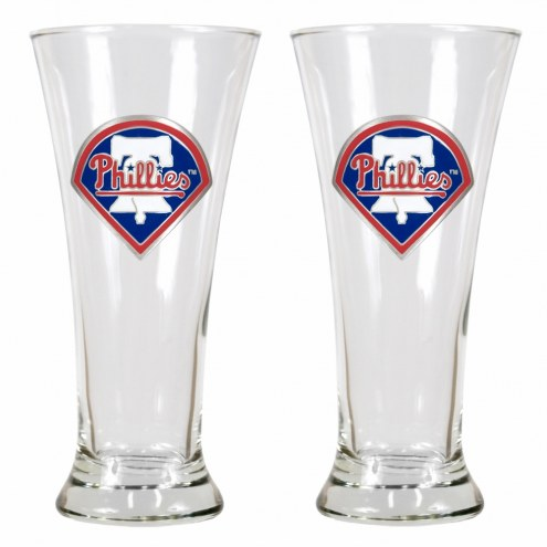 Philadelphia Phillies Premiere Pilsner Glass Set