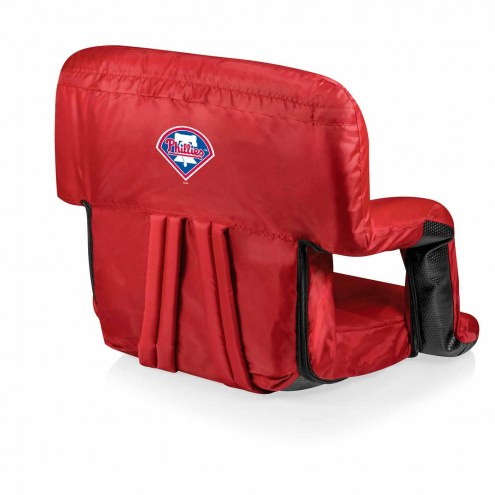 Philadelphia Phillies Red Ventura Portable Outdoor Recliner